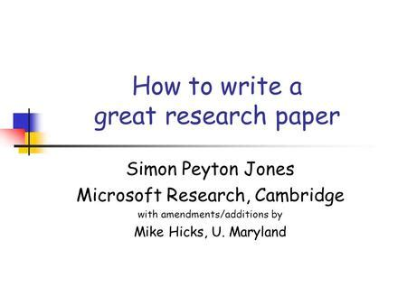 Writing research review paper